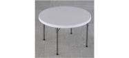 Rundt bord Lifetime Ø118 cm plast med klapstel