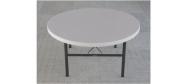 Rundt bord Lifetime Ø153 cm plast med klapstel