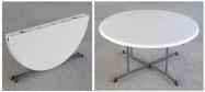 Rundt bord Lifetime Ø153 cm plast fold in half med klapstel