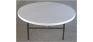 Rundt bord Lifetime Ø182 cm plast med klapstel