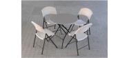 Rundt bord opstilling med Lifetime Ø83 cm og klapstole