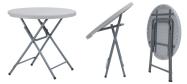 Rundt bord Zown Praxis80 Ø80 cm plast med klapstel